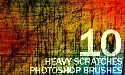 Free Hi-Resolution Heavy Scratches Photoshop Brushes