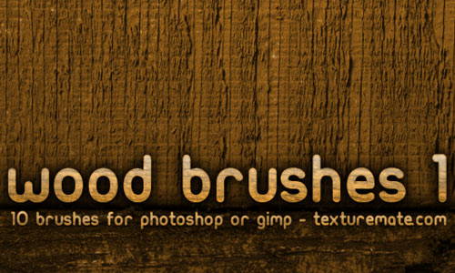 Wood 1 Brush Pack for Photoshop or Gimp