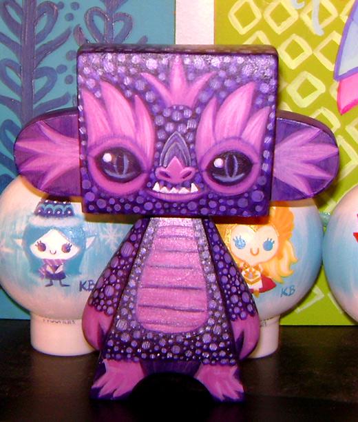 Purple dragon madl mad vinyl toy
