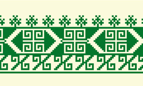 Free vector Russian embroidery ornament