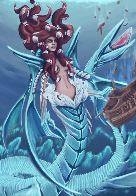 Mermaid blue water colossus rift video game