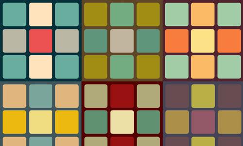 Retro Cubes Pattern Set