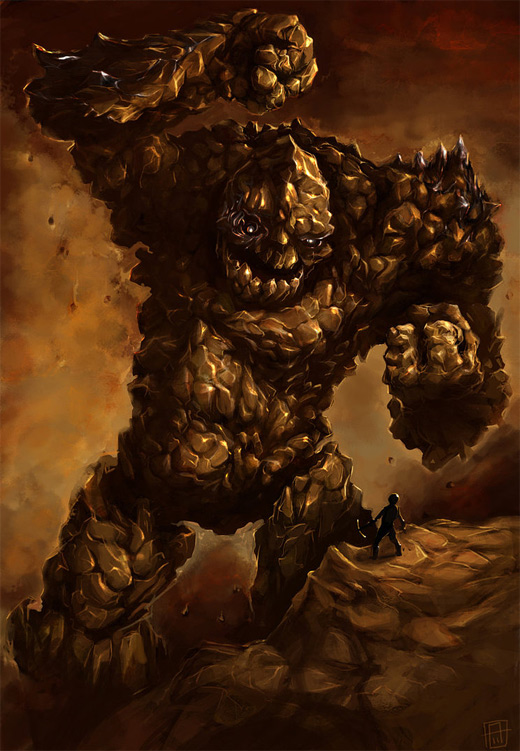 Rock golem rift earth colossus illustrations artworks