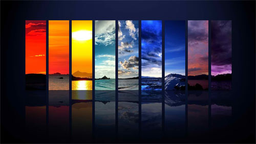 spectrum of the sky wallpaper