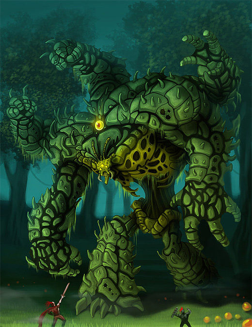 Green monster life colossus rift game