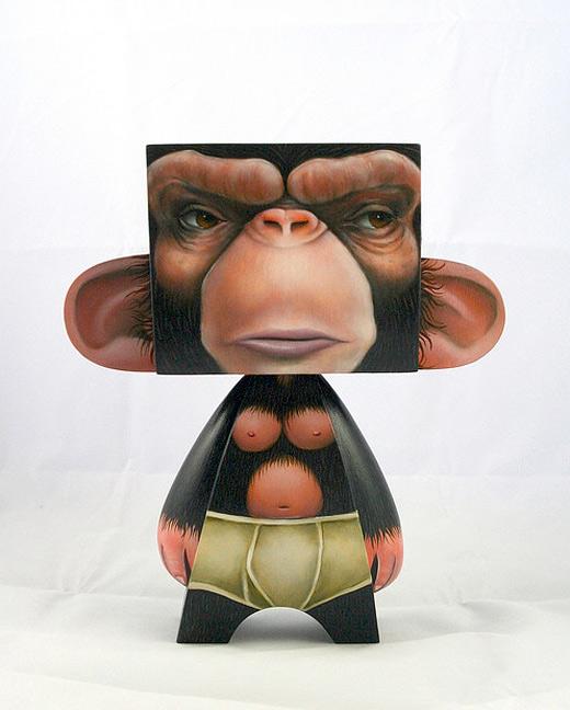 Naked monkey madl mad vinyl toy