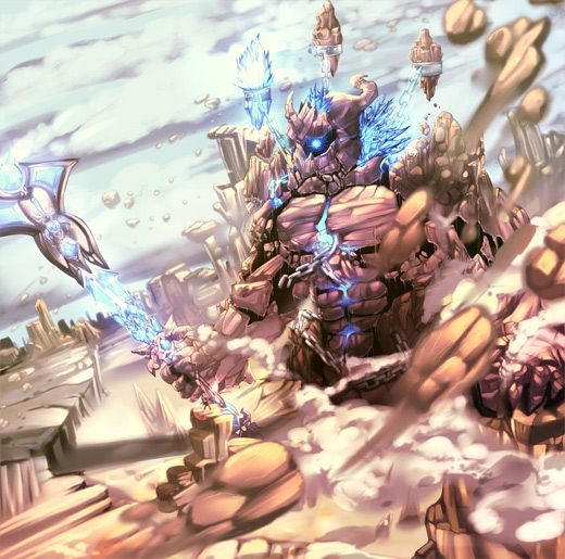 Rock lightning rift earth colossus illustrations artworks