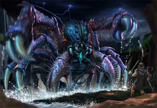 Jellyfish creature water colossus rift video game