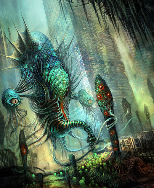 Alien water colossus rift video game
