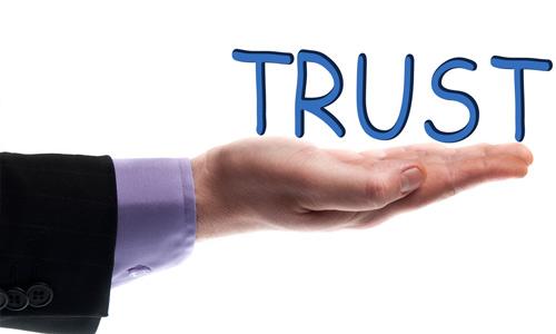 You'll get trust