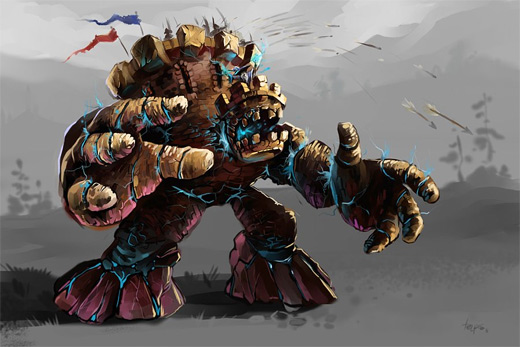 Castle golem rift earth colossus illustrations artworks