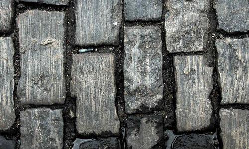 Cobblestone road texture