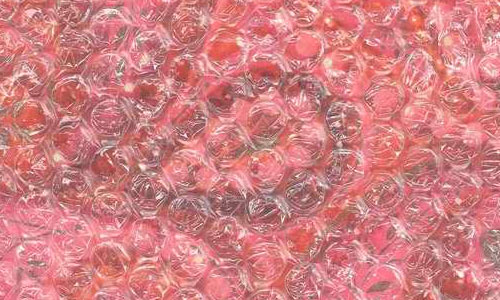 Pink Swirl Under Bubble Wrap texture