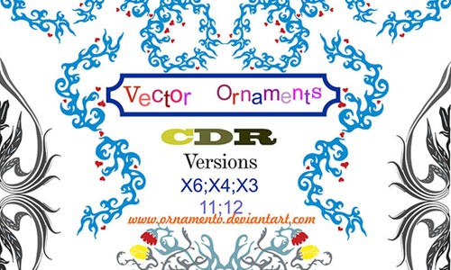 vector ornaments corel draw
