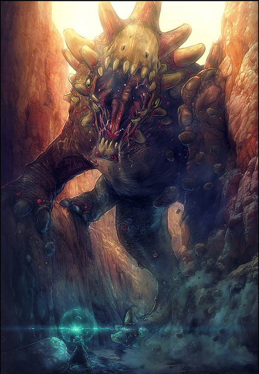 Scary rift earth colossus illustrations artworks
