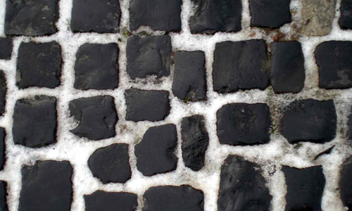 Stock Texture - CobbleStones and Snow