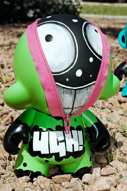 Green zipper hiding ultimate vinyl toys design collection