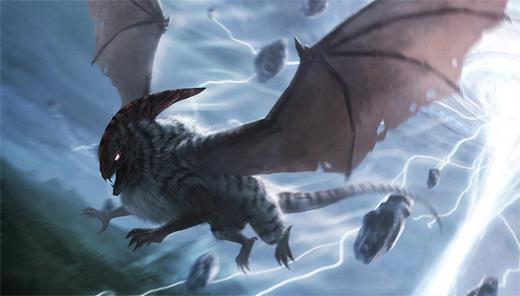 Flying bird monster air colossus rift video game