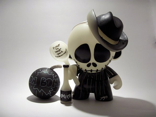 Skeleton bomb poison ultimate vinyl toys design collection