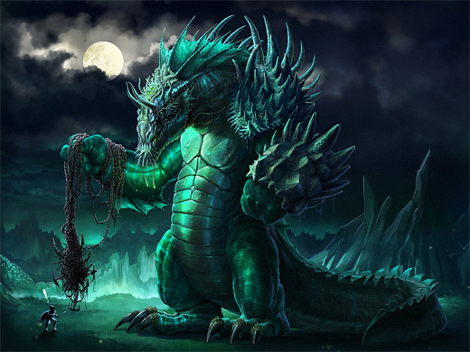 Dragon water colossus rift video game