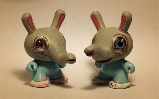 Blue elephant pajama dunny vinyl toys design