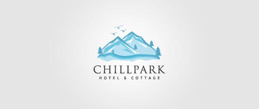 Blue mountain logo design collection