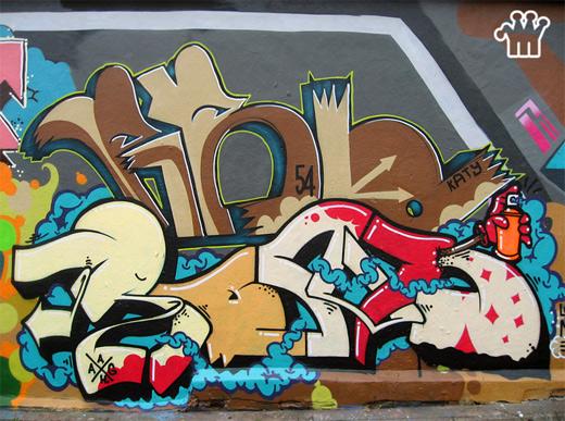 cute colorful graffiti artworks