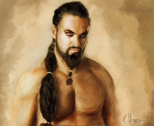 Khal game of thrones illustration artworks