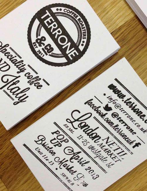 Terrone Identity business card