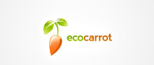 Shiny carrot logo design collection