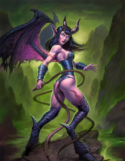 Succubus world of warcraft illustration artworks