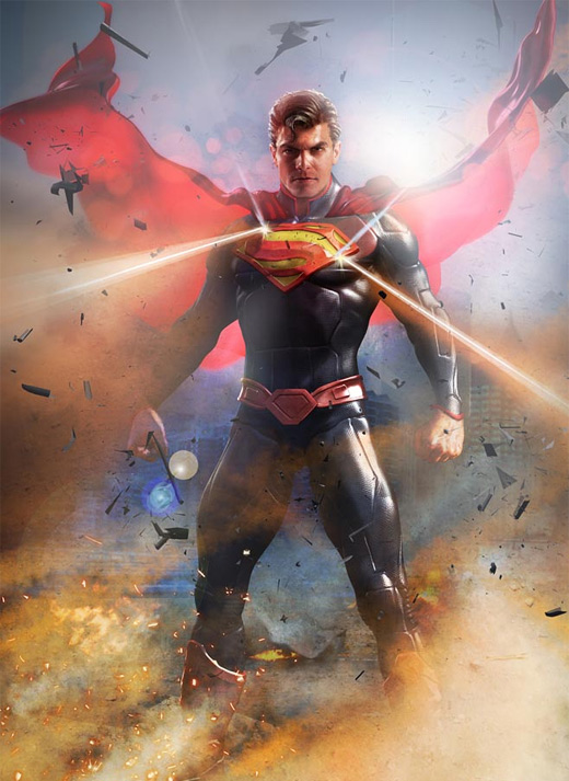 Shining epic superman man of steel fan art illustration artworks
