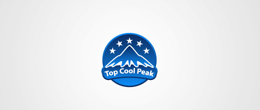 Star ice cap mountain logo design collection