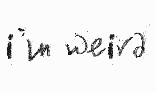 I'm Weird font