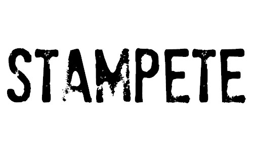 stampete font