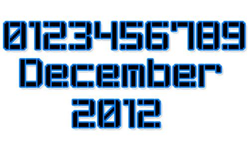 Stencil Pixel-7 font