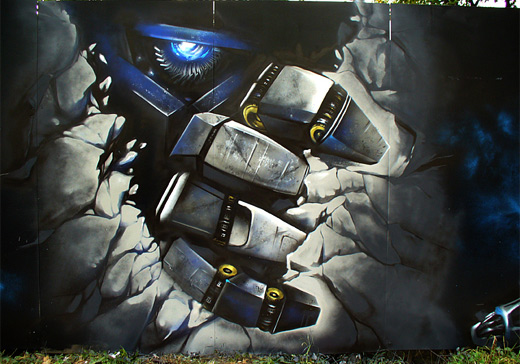 Transformers optimus prime graffiti artworks collection
