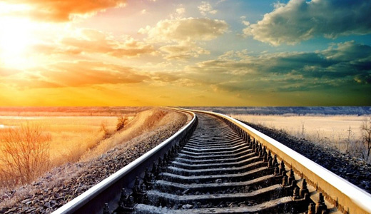 Beach seaside railroad free download wallpapers