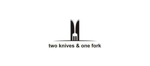 two knives & one fork logo