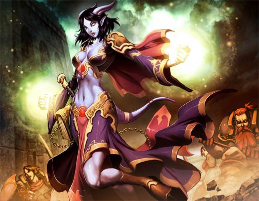 Healer world of warcraft illustration artworks