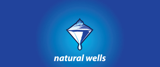 Ice underground blue mountain logo design collection