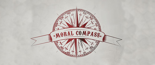 Old vintage compass logo design collection