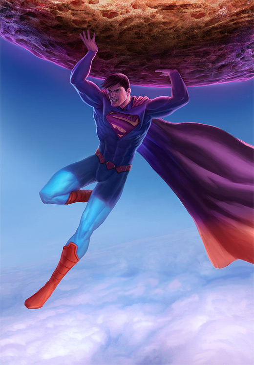 Strong superman man of steel fan art illustration artworks