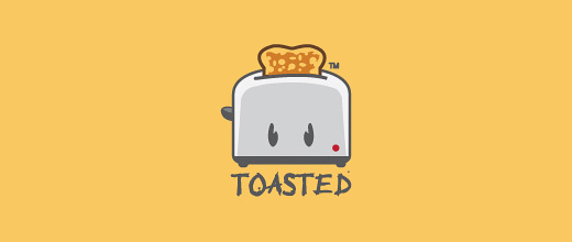 Toaster sliced bread logo designs collection