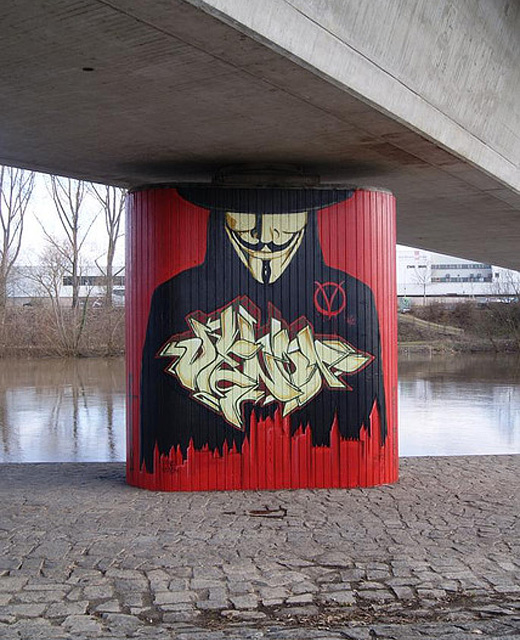 Vendetta red graffiti artworks collection