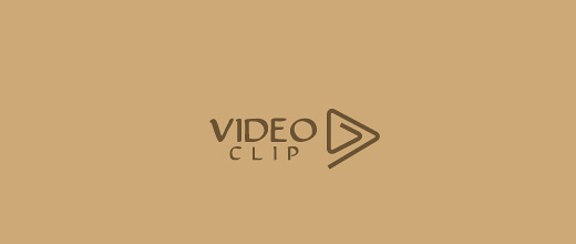 Play sign video paper clip logo design collection