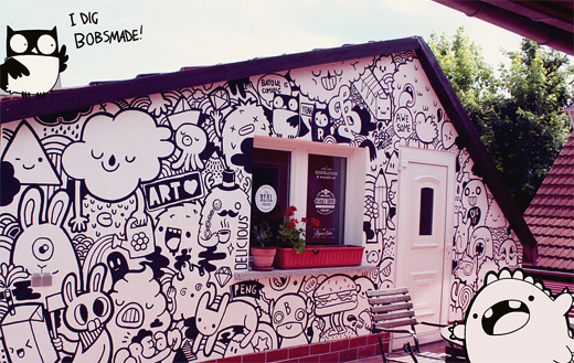 Doodle graffiti artworks collection
