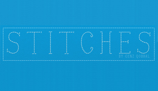 Line stitch fonts free download