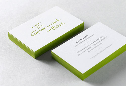 Greenwich Hotel Identity Business Card