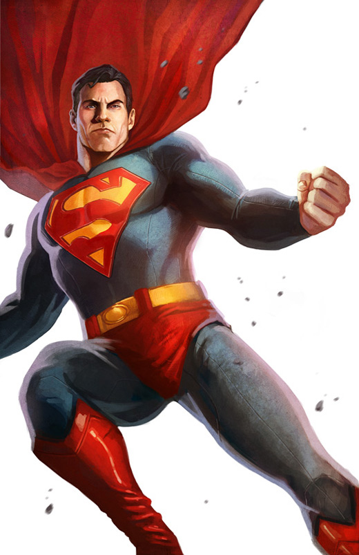 White superman man of steel fan art illustration artworks